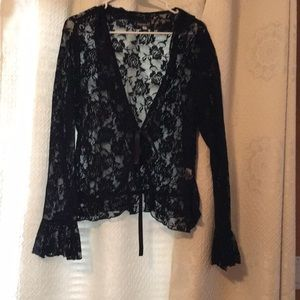 Tops - Black lace jacket